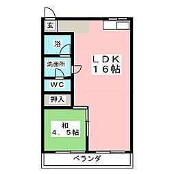 東山ハイホーム[3階]の間取り
