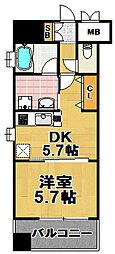 craft福島野田[8階]の間取り