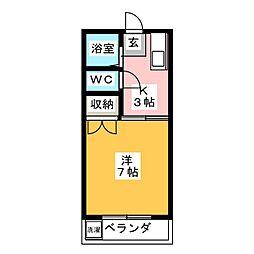 網野ハイツ[2階]の間取り