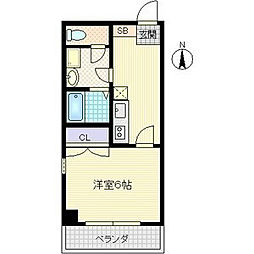 JUNWAIII[2階]の間取り
