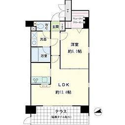オベリスク藤崎[1階]の間取り