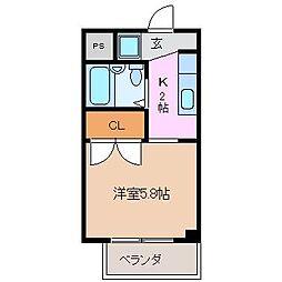 Sパレスカメヤマ[2階]の間取り