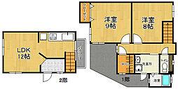 [テラスハウス] 兵庫県宝塚市平井 の賃貸【/】の間取り