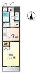 近鉄南大阪線 河内松原駅 バス14分 真福寺下車 徒歩3分の賃貸マンション 3階1DKの間取り