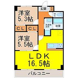 フォレスタ阿由知[8階]の間取り
