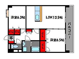 ニュー・アンフィニー[4階]の間取り