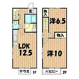 [テラスハウス] 神奈川県横浜市旭区中沢1丁目 の賃貸【/】の間取り