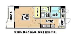 福岡県北九州市八幡西区三ケ森3丁目の賃貸マンションの間取り