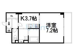 ヴァンヴェルデ西京極[5階]の間取り
