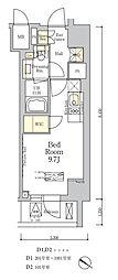ザ・クラス南麻布 3階ワンルームの間取り