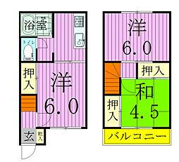 [タウンハウス] 千葉県松戸市三矢小台3丁目 の賃貸【/】の間取り