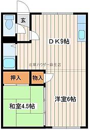 篠路ハウス[1階]の間取り