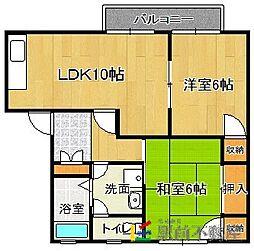 福岡県福岡市東区大字三苫2丁目の賃貸アパートの間取り