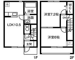 [テラスハウス] 茨城県坂東市辺田 の賃貸【/】の間取り