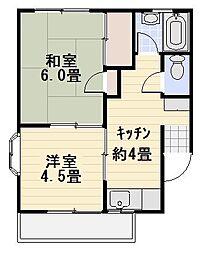 ハイツカズマ[2-D号室]の間取り