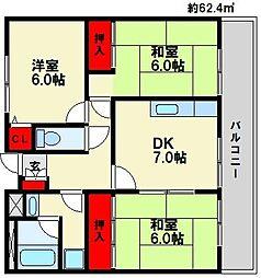 アイビーハウスI[3階]の間取り