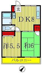 クレセントビル[2階]の間取り