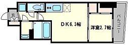 セレニテ桜川駅前プリエ 10階1DKの間取り