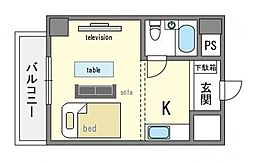 家具・家電付きLSP博多[6階]の間取り