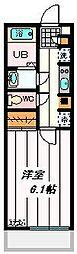 JR埼京線 与野本町駅 徒歩9分の賃貸マンション 3階1Kの間取り