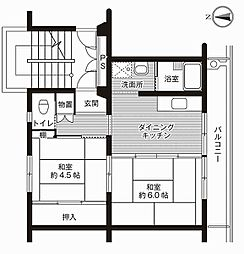 静岡県伊豆の国市御門の賃貸マンションの間取り