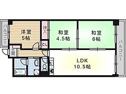 アメニティ吉野[2階]の間取り