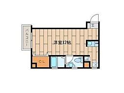 東京都品川区南品川3丁目の賃貸マンションの間取り