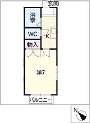 カインドハイツ御木本[1階]の間取り