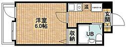 ダイアパレスステーションプラザ武蔵新城[111号室]の間取り