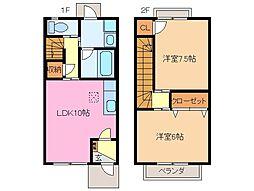 [テラスハウス] 三重県松阪市高町 の賃貸【/】の間取り