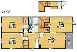 ザオバーレイII[2階]の間取り