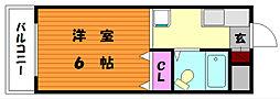 アマノフラット香住ヶ丘[1階]の間取り