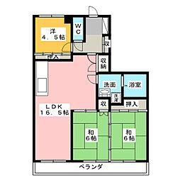第2翠芳ビル[3階]の間取り