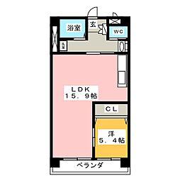 マイタウン錦町[3階]の間取り