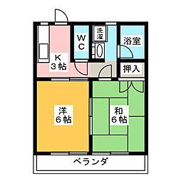 コーポ・ミレニアムA[1階]の間取り