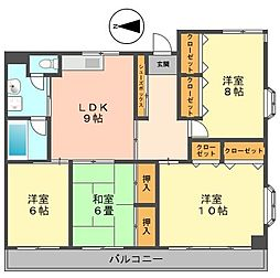 東京都江戸川区西小岩5丁目の賃貸マンションの間取り