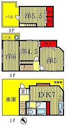 [一戸建] 千葉県松戸市紙敷 の賃貸【千葉県 / 松戸市】の間取り