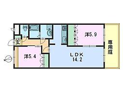 CHERRY HOUSE(チェリーハウス)[106号室]の間取り