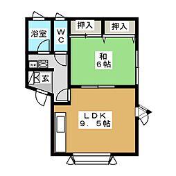 ポートビュー[2階]の間取り