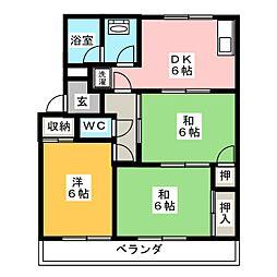 元町第2ハイツ[2階]の間取り