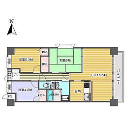 川端壱番館[4階]の間取り
