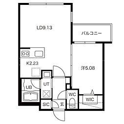 LIEN MARUYAMA[1階]の間取り