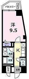 エルシェ横濱 6階1Kの間取り