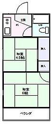 富士ハイツ[3階]の間取り