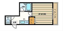 エヴァ−グリーン・タナカ[3階]の間取り