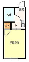 シティハイムヨシノ[101号室]の間取り