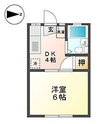 鈴富荘[2階]の間取り