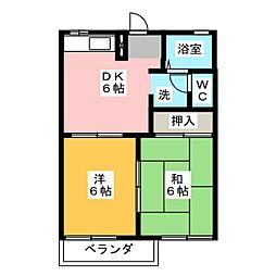セレクト21B[2階]の間取り