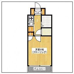 G-ONE西新II[4階]の間取り