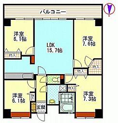 広島県広島市安佐南区伴南1丁目の賃貸マンションの間取り